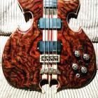 1998 Alembic Mark King Custom Triple Heart Omegga One of a kind! Alembic Mark King Custom 1998 Walnut Burl image
