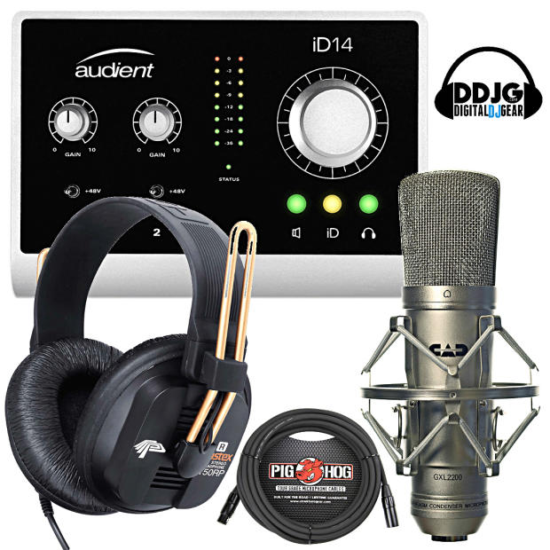audient id14 usb audio interface w fostex t50rp cad gxl2200 20 39 xlr cable reverb. Black Bedroom Furniture Sets. Home Design Ideas
