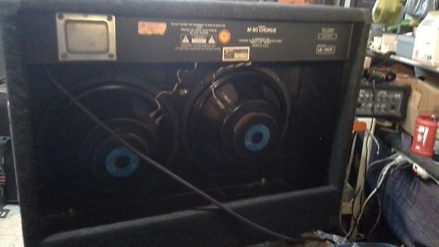 fender m80 stereo heavy metal guitar amp combo 2 12 black reverb. Black Bedroom Furniture Sets. Home Design Ideas