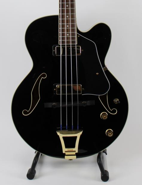 ibanez afb200 artcore hollow body bass guitar with leather strap reverb. Black Bedroom Furniture Sets. Home Design Ideas