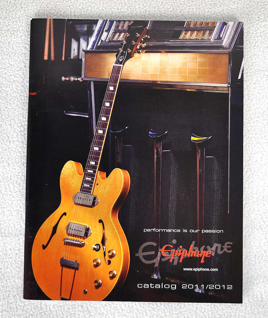 New Official Epiphone Guitar 2011-2012 Catalog! Full color : Reverb