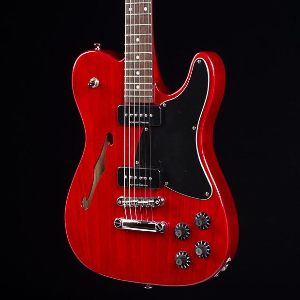 fender jim adkins ja 90 telecaster thinline red 0225 used reverb. Black Bedroom Furniture Sets. Home Design Ideas