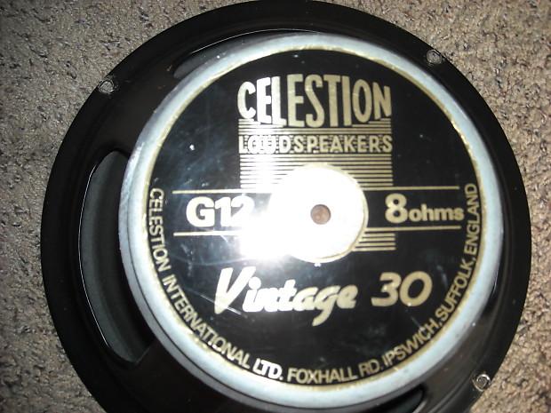celestion vintage 30 guitar speaker 8 ohm reverb. Black Bedroom Furniture Sets. Home Design Ideas
