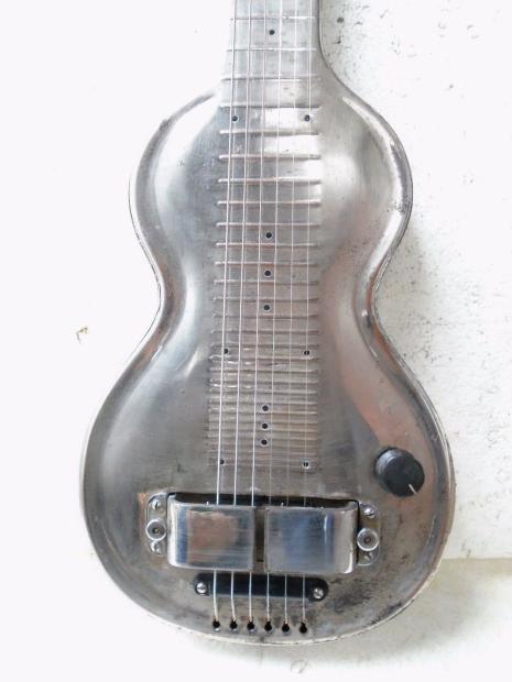 rickenbacker silver hawaiian model ns lap steel guitar late 30 39 s brass body reverb. Black Bedroom Furniture Sets. Home Design Ideas