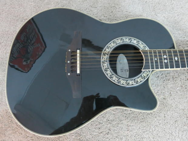 ovation 1866 legend 12 string acoustic electric guitar usa with case high action reverb. Black Bedroom Furniture Sets. Home Design Ideas