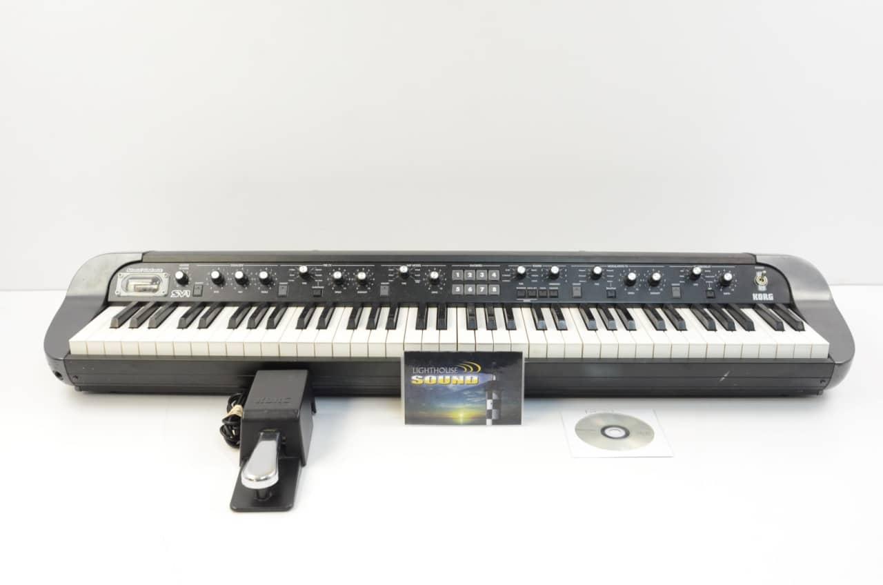 korg sv1 73 stage vintage piano 73 key black sv 1 reverb. Black Bedroom Furniture Sets. Home Design Ideas
