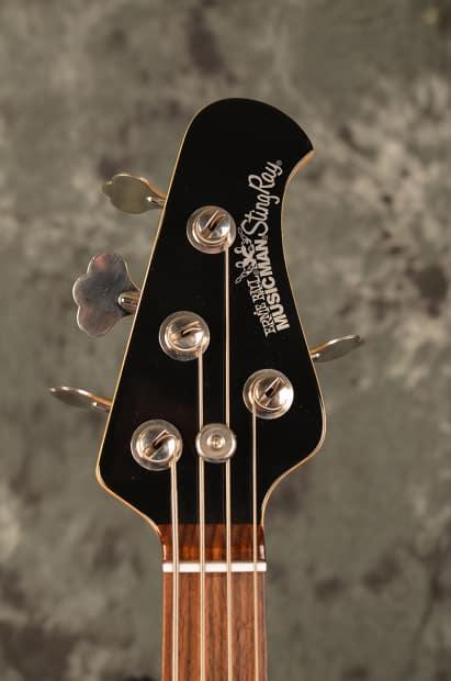 ernie ball musicman stingray 4 bass 2003 ebony tortoise reverb. Black Bedroom Furniture Sets. Home Design Ideas