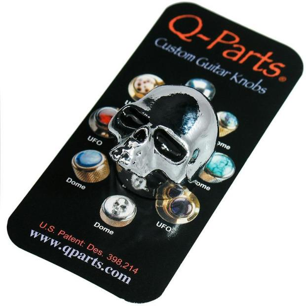 q parts skull ii custom guitar volume tone knob chrome guitar part reverb. Black Bedroom Furniture Sets. Home Design Ideas
