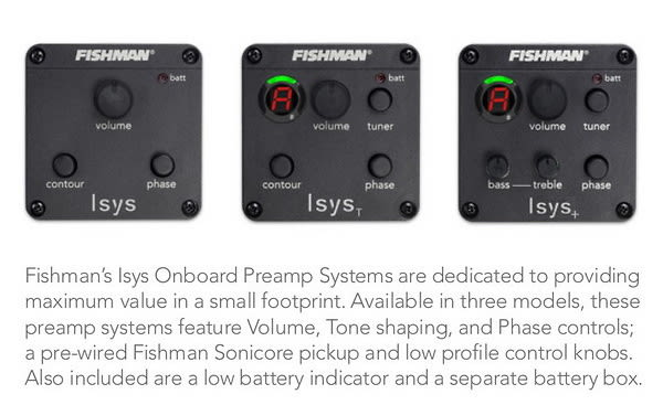 fishman isys eq preamp system for acoustic guitar reverb. Black Bedroom Furniture Sets. Home Design Ideas