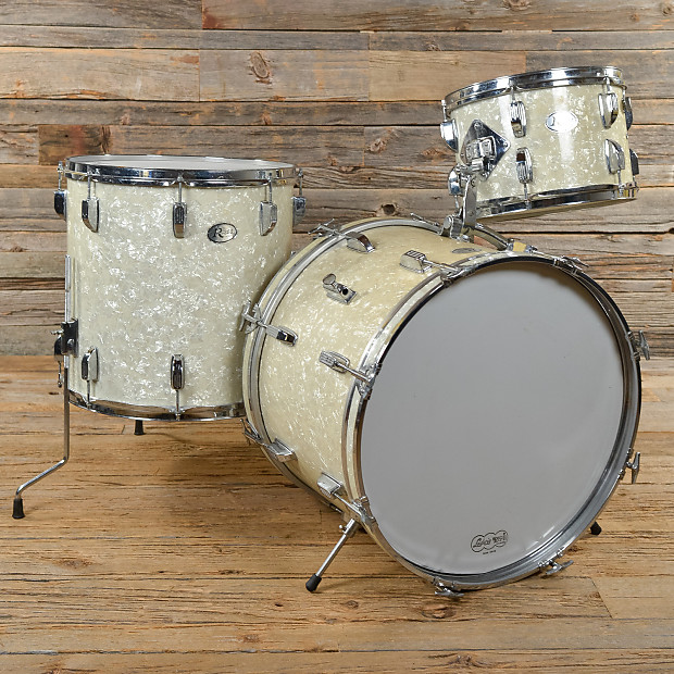 Rogers 360 12 16 20 3pc drum kit white marine pearl 70s for 16 x 12 floor tom