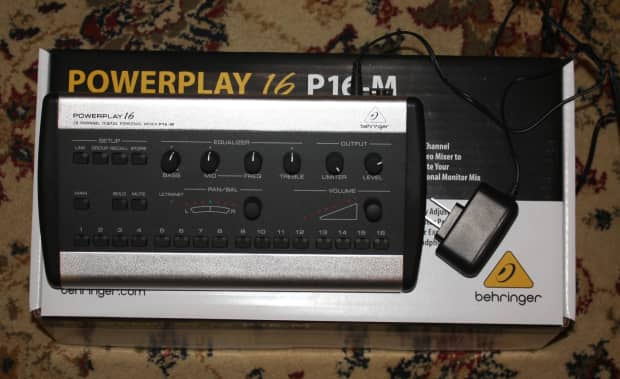 Behringer Powerplay P16 M Personal Monitor Mixer Reverb