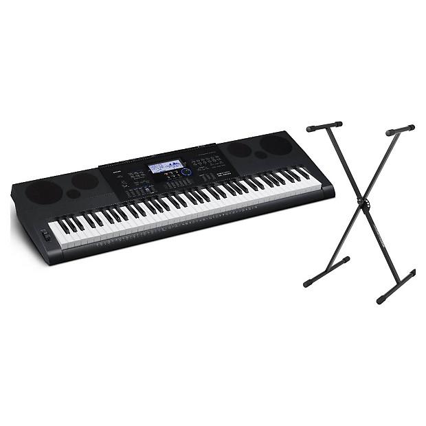Casio WK6600 76-Key Portable Keyboard Bundle