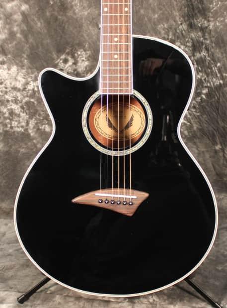 dean performer e lefthanded black acoustic electric guitar reverb. Black Bedroom Furniture Sets. Home Design Ideas