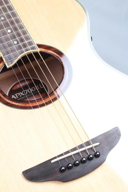 yamaha apx 700 thinline acoustic electric guitar left handed natural reverb. Black Bedroom Furniture Sets. Home Design Ideas