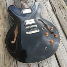 Epiphone Dot Semi-hollowbody Electric Guitar Ebony Seymour Duncan P90 and hardshell case image