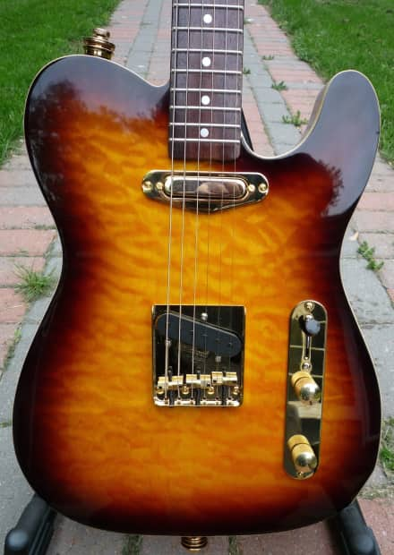 custom quilted maple top tele w noiseless pickups reverb. Black Bedroom Furniture Sets. Home Design Ideas