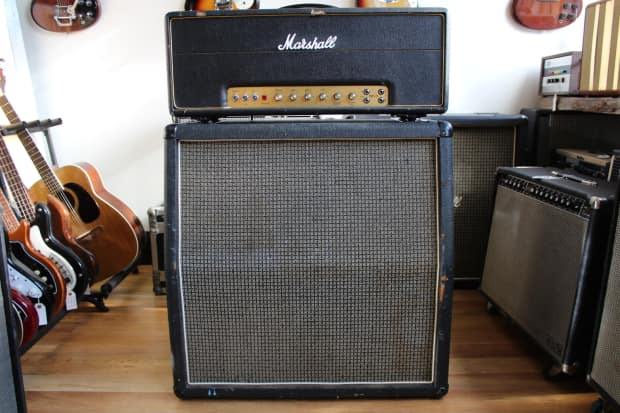 Vintage Marshall 1960a Top 4x12 Empty Cabinet Cab  1970s