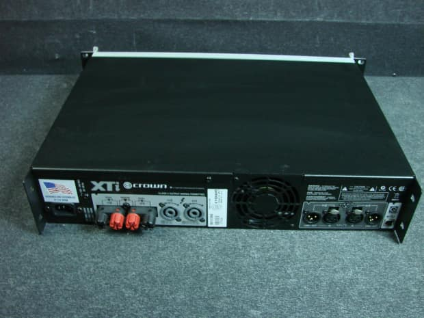 crown made in usa xti 1000 power amplifier reverb. Black Bedroom Furniture Sets. Home Design Ideas