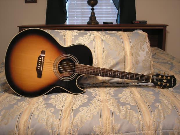 epiphone pr5 e acoustic electric vintage sunburst w ohsc reverb. Black Bedroom Furniture Sets. Home Design Ideas
