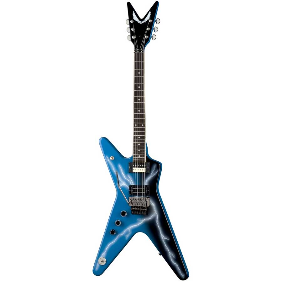 dean dime from hell ml lefty electric guitar w lightening reverb. Black Bedroom Furniture Sets. Home Design Ideas