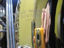 used E.M. Winston Boston 457LX Tenor Saxophone w/new Selmer mouthpiece just serviced image
