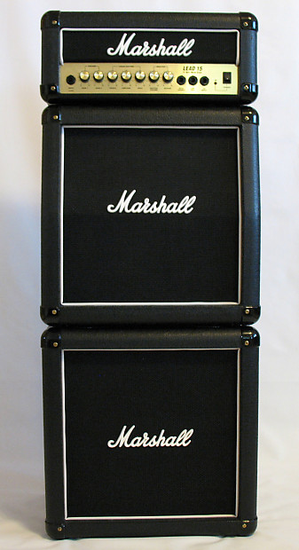 marshall lead 15 full mini stack g15ms amp head and 2 reverb