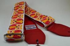 NEW! Souldier Guitar Straps - Owls Red - Leather Ends image