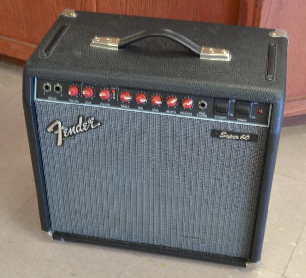 fender super 60 red knob guitar tube amp amplifier 60w 1x12 reverb. Black Bedroom Furniture Sets. Home Design Ideas