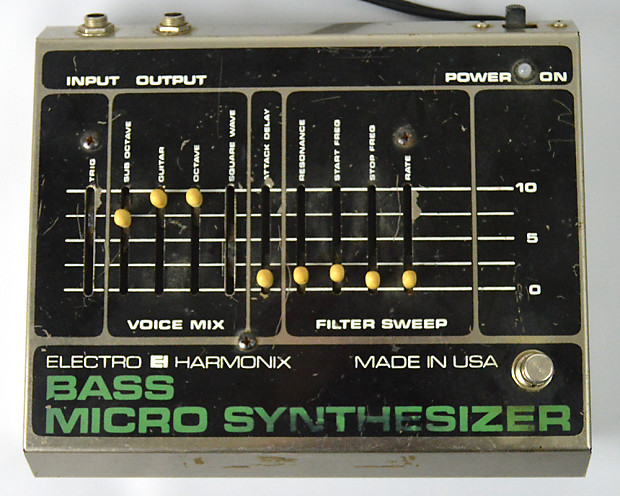 vintage 1970s electro harmonix bass micro synth reverb. Black Bedroom Furniture Sets. Home Design Ideas