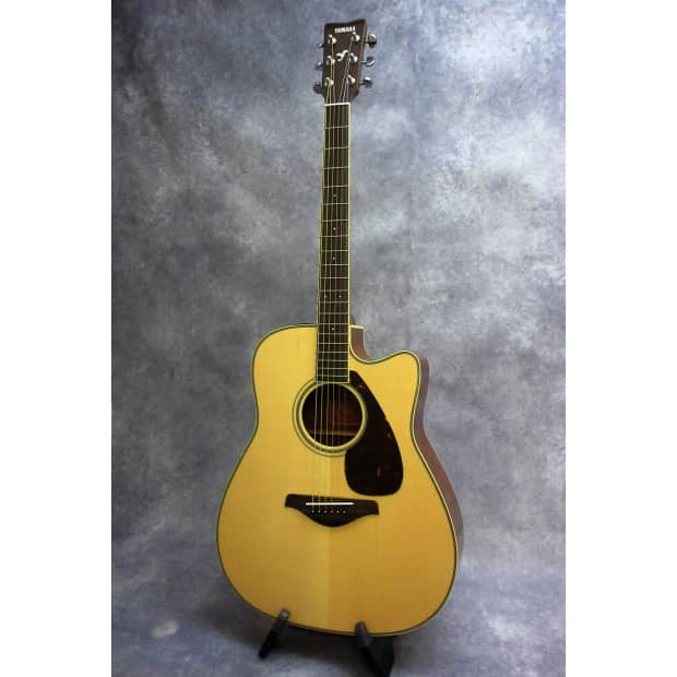 Yamaha fgx720sca acoustic electric dreadnought guitar for Yamaha fgx720sca price