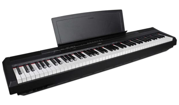 Yamaha p115b 88 key weighted ghs action digital piano black reverb for Yamaha fully weighted keyboard