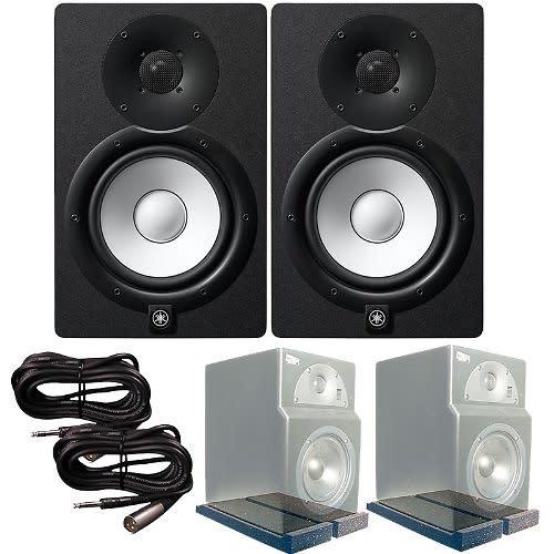 yamaha hs7 active monitors primacoustic isopads trs xlr. Black Bedroom Furniture Sets. Home Design Ideas