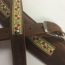 "Souldier ""Petunia"" Leather Saddle Guitar Strap *Free Shipping* image"