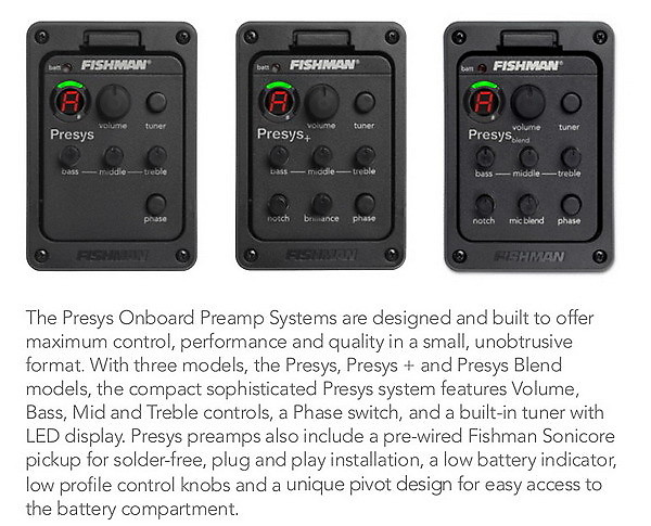fishman presys preamp system for acoustic guitar reverb. Black Bedroom Furniture Sets. Home Design Ideas