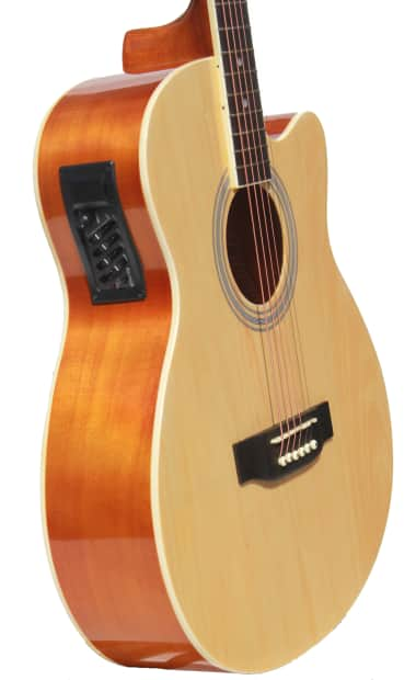 acoustic electric guitar with full package for beginners 40 reverb. Black Bedroom Furniture Sets. Home Design Ideas
