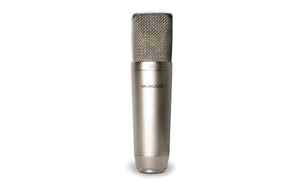 new m audio nova condenser mic free mic cable reverb. Black Bedroom Furniture Sets. Home Design Ideas