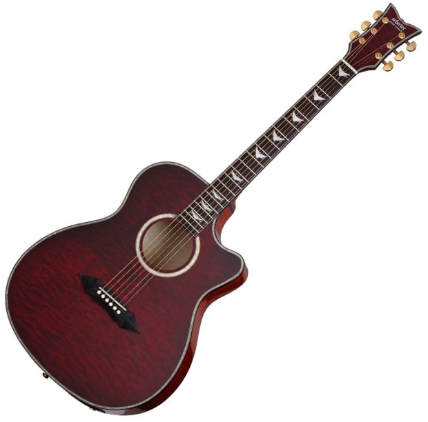schecter omen extreme acoustic electric guitar black cherry reverb. Black Bedroom Furniture Sets. Home Design Ideas