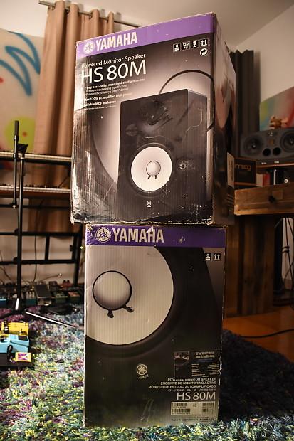 Yamaha hs80m powered studio monitors pair reverb for Yamaha hs80 vs hs8