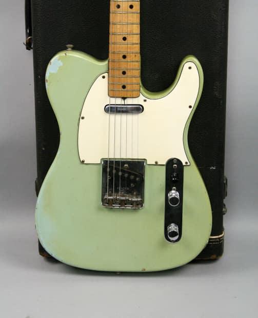 1969 fender telecaster sonic blue vintage guitar all original reverb. Black Bedroom Furniture Sets. Home Design Ideas