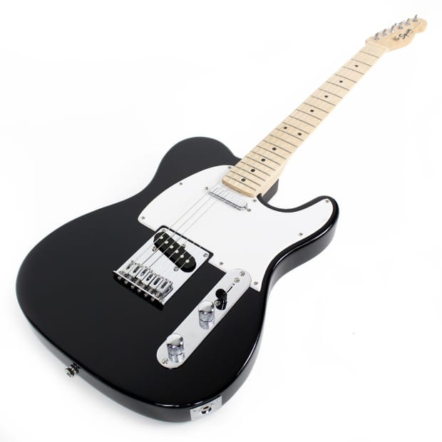 fender squier bullet telecaster electric guitar in black reverb. Black Bedroom Furniture Sets. Home Design Ideas