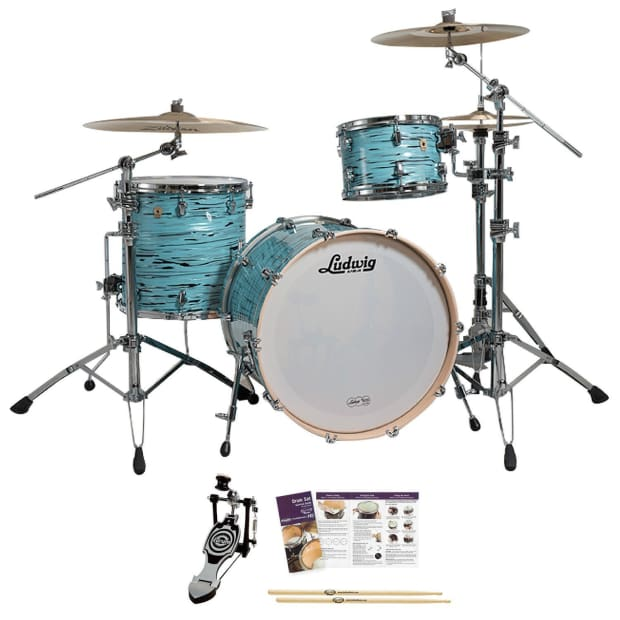 ludwig usa keystone turquoister 3 pc drum kit w accessories reverb. Black Bedroom Furniture Sets. Home Design Ideas
