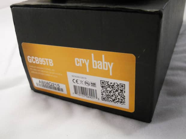 Dunlop Crybaby Two Tone Sunburst Gcb95tb Wah Effects Pedal