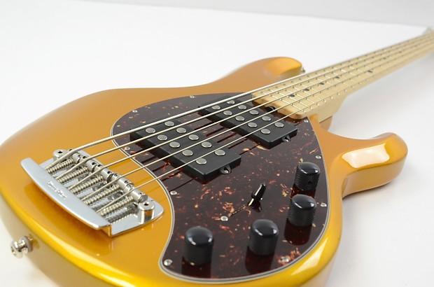 ernie ball musicman stingray 5 string bass gold w ohsc reverb. Black Bedroom Furniture Sets. Home Design Ideas