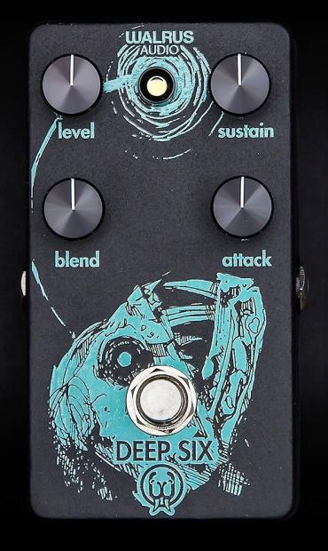 new walrus audio deep six compressor pedal handmade in the usa black and teal reverb. Black Bedroom Furniture Sets. Home Design Ideas
