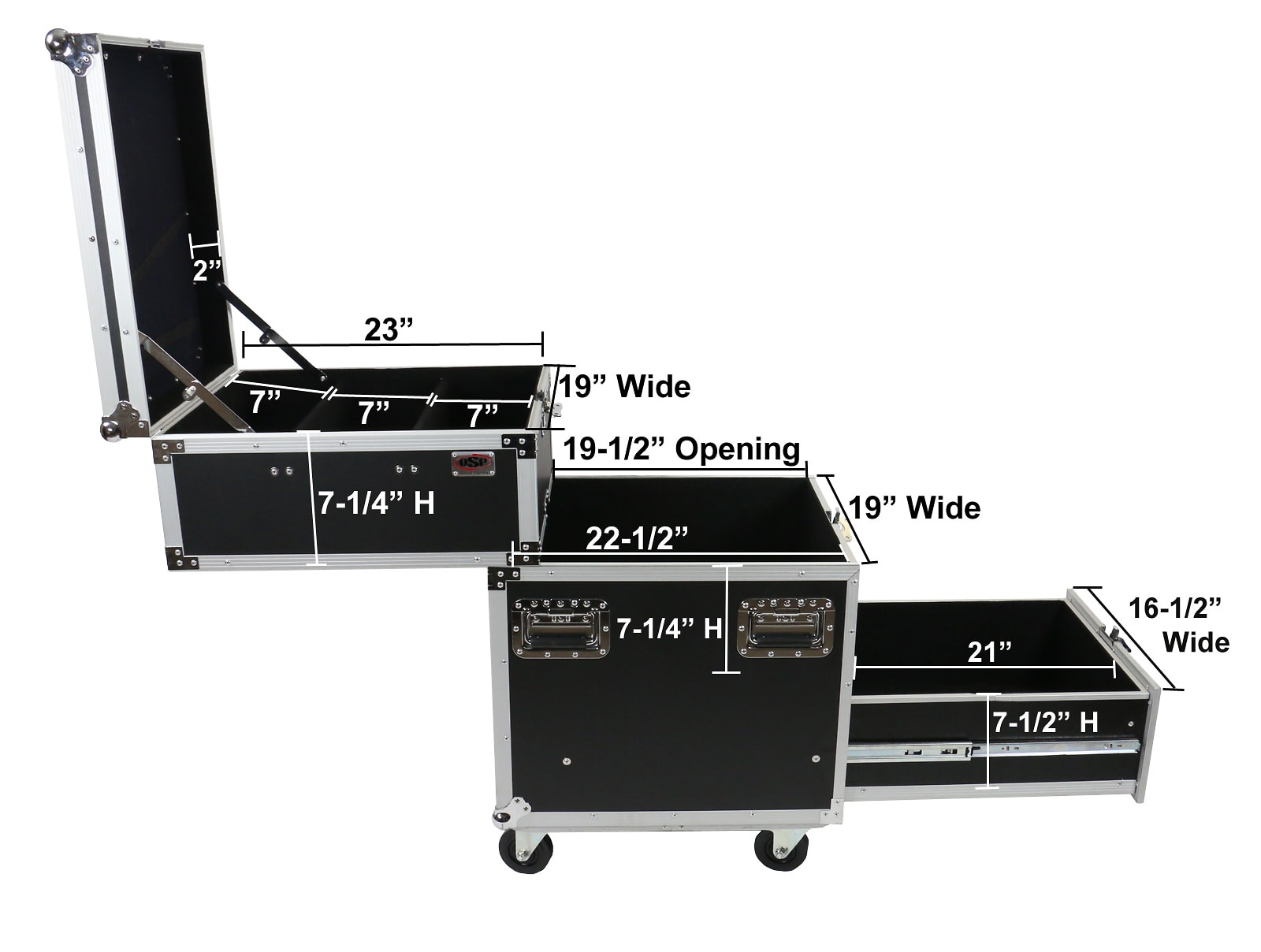 OSP PRO-WORK-SDC Sliding Drawer Case