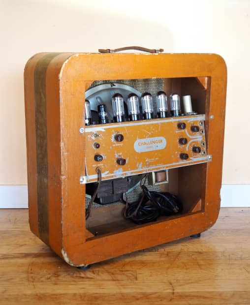 1950s Danelectro Challenger Series C Vintage 1x15 Tube Amp