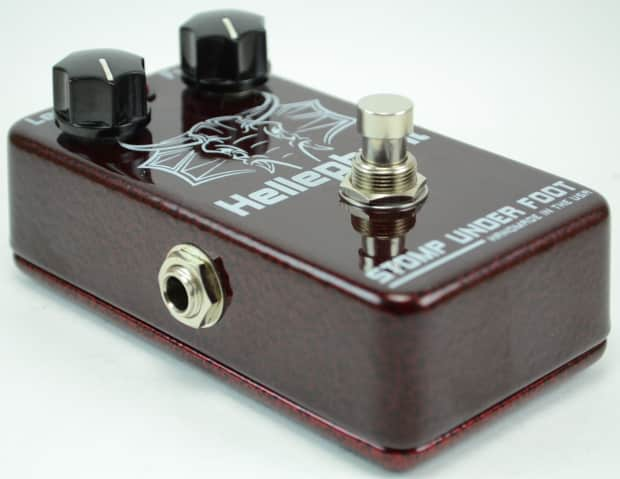 used stomp under foot hellephant fuzz guitar effects pedal reverb. Black Bedroom Furniture Sets. Home Design Ideas