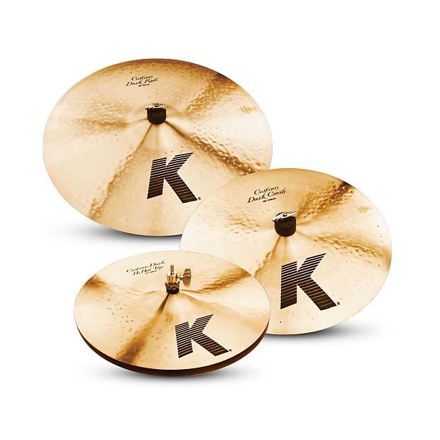 zildjian k custom dark cymbal pack 14 hats 16 crash 20 reverb. Black Bedroom Furniture Sets. Home Design Ideas