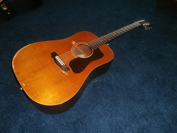 vintage 1976 guild d 35 acoustic guitar w gig bag reverb. Black Bedroom Furniture Sets. Home Design Ideas