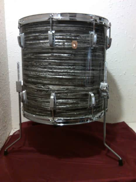Ludwig Floor Tom 1968 Black Oyster Pearl 16x16 Quot Reverb